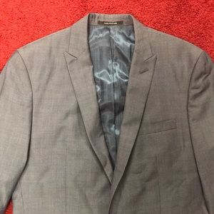 Other - 40/36 steel blue peak lapel suit
